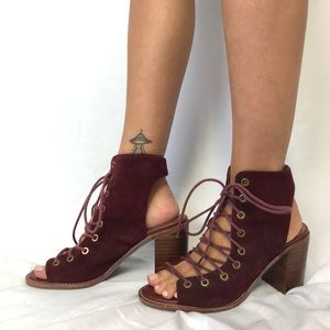 Jeffrey Campbell Minimal Lace Up Heels